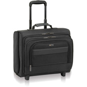 """SOLO® Classic Rolling Overnighter Case, 15.6"""", 16 1/2 x 6 1/2 x 13, Ballistic Poly, BK"""