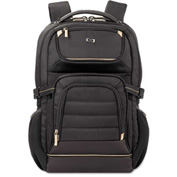 "SOLO® Pro Laptop Backpack, 17.3"", 12 1/2 x 7 1/2 x 18, Black"
