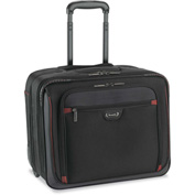 """SOLO® Executive Rolling Overnighter, 16"""", 16 3/4 x 14 x 9 1/2, Black/Red"""