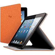 SOLO® Urban Slim Case for iPad Air, Polyester Fabric, Orange
