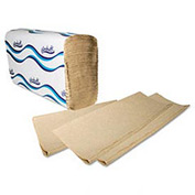 Embossed Multifold Paper Towels, 9-1/4 x 9-1/2, Natural, 250/Pack, 16/Carton - WNS1040