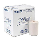 Nonperforated Paper Towel Roll, 8 x 350', Natural, 12/Carton - WNS108