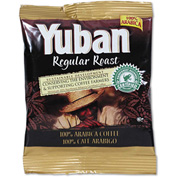Yuban® Colombian Regular Roast Coffee, Regular, 1.5 oz., Arabica Beans, 42/Carton