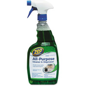 Zep® Commercial All-Purpose Cleaner & Degreaser, 32oz Trigger Bottle 1/Case - ZPEZUALL32