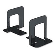 Standard Deluxe Metal Bookends, Nonskid Padded Base, Black Enamel
