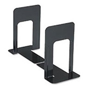 Jumbo Economy Metal Bookends, Black Enamel