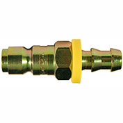 "Milton 1747-6 P Style Automotive Push On and Lock Plug 3/8"" Hose Barb 10 Pack"