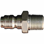 "Milton 1767 High Pressure Straight Through Plug 3/8"" MNPT 10 Pack"