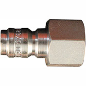 "Milton 1768 High Pressure Straight Through Plug 3/8"" FNPT 10 Pack"