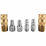Milton S-217 V Style High Flow Coupler and Plug Kit 6 piece 6 Pack