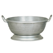 Update Int. 11 Quart Aluminum Colander With Handles & Base Package Count 4