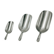 Update International 5 Ounce Aluminum Scoop - Pkg Qty 12