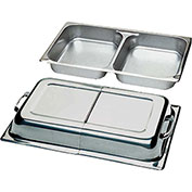 "Update International Two Division Full Pan, 2-1/2""Deep, Stainless Steel, CC-1/DFP - Pkg Qty 12"