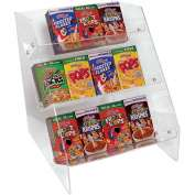 "Update International Cereal Organizer Acrylic, 12""L x 14""W x 15""H, 36 Boxes, CRO-36"