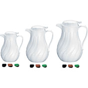Update International Swirl Carafe, 40 Oz., White, F3022/40 Package Count 12
