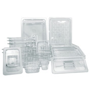 Update Int. Half Size Polycarbonate Food Pan Cover - Notched - Pkg Qty 12