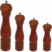 "Update International Wooden Pepper Mill W/Metal Top, 2-1/5""Dia. x 10""H, PMW-10 - Pkg Qty 24"