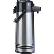 Update International Airpot W/Button Top, 2-1/2 Ltr., Stainless Steel Lined, PSVL-25/BK/SF - Pkg Qty 6