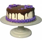 "Update International Revolving Cake Decorating Stand - Enamel Coated, 12""Dia. x 4""H, RCDS-12 - Pkg Qty 6"