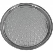 "Update International Swirl Round Tray, 12""L, Stainless Steel, SST-12R - Pkg Qty 12"
