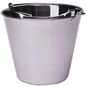 Update International UP-13 - Utility Pail, 13 Quart, Stainless Steel  - Pkg Qty 12