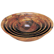 "Update Int. 14"" Woven Wood Bowl - Pkg Qty 12"