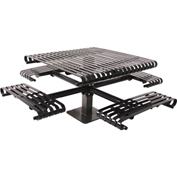 "UltraPlay 46"" Kensington Square Slat Table, Surface Mount, Black"