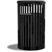UltraPlay 36 Gallon Kensington Receptacle 41-SD-BLK Black