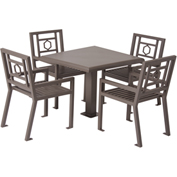 "UltraPlay 36"" Square Huntington Table w/ 4 Chairs, Brown"