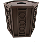 UltraPlay 36 Gallon Huntington Receptacle 51-HXFT w/Flat Lid - Brown