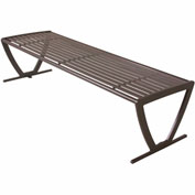"UltraPlay 72"" Augusta Bench w/o Back, Horizontal Slat, Brown"