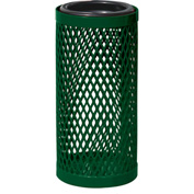 UltraPlay Metal Thermoplastic Coated Ash Urn, Diamond Patterned, Beige - EX-12-BGE