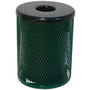 32 Gallon Thermoplastic Coated Diamond Pattern Trash Receptacle - Green