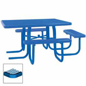 "3-Seat, 46"" ADA Square Table, Diamond 78""W x 72""D - Blue"