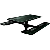 "6' Single Pedestal Table, Surface Mount, Diamond 72""W x 70""D, Perforated Metal - Black"