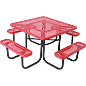 "46"" Square Table, Perforated, Red"