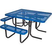 "46"" ADA Square Table, Perforated, Blue"