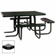 "3-Seat, 46"" ADA Square Table, Diamond 78""W x 72""D - Black"