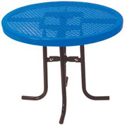 "30"" High Food Court Round Table, Diamond 36""Diameter - Blue"