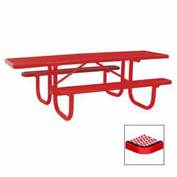 "8' Double Sided Extra Heavy Duty ADA Table, Diamond 96""W x 70""D - Red"