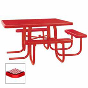 "3-Seat, 46"" ADA Square Table, Diamond 78""W x 72""D - Red"