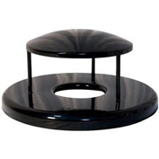 Rain Bonnet Lid for 55 Gallon Trash Receptacles - Black