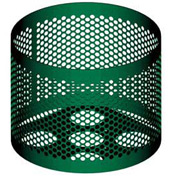 Round UltraCoat Outdoor Planter, Perforated - Green
