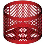 Round UltraCoat Outdoor Planter, Perforated - Red