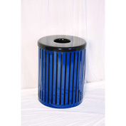 UltraPlay 32 Gallon Slat Trash Receptacle, Blue - S-32-BLU