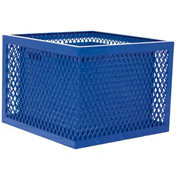 Square UltraCoat Outdoor Planter, Diamond - Blue