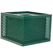Square UltraCoat Outdoor Planter, Diamond - Green