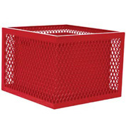 Square UltraCoat Outdoor Planter, Diamond - Red