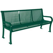 "4' Lexington Bench, Perforated 48""W x 25""D - Green"