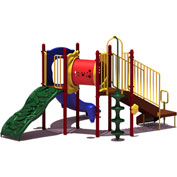UPlay Today™ Deer Creek Commercial Playground Playset, Playful (Red, Yellow, Blue)